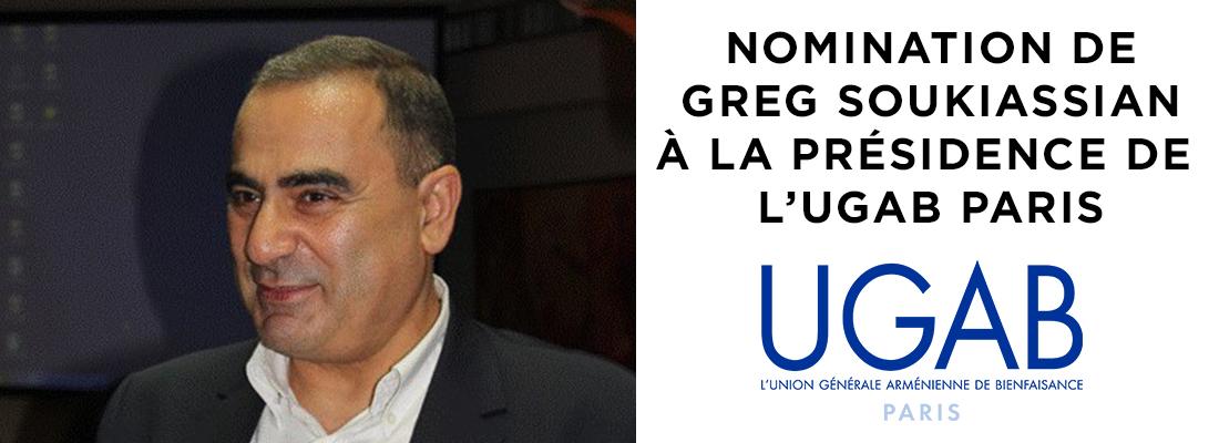 Nomination de Greg Soukiassian à la présidence de l'UGAB Paris