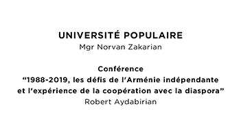 Université populaire de Monseigneur Norvan Zakarian