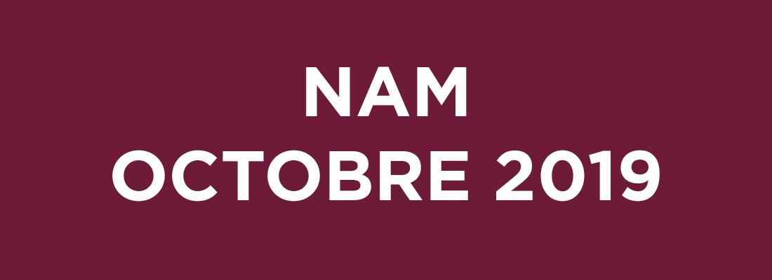 NAM Octobre 2019