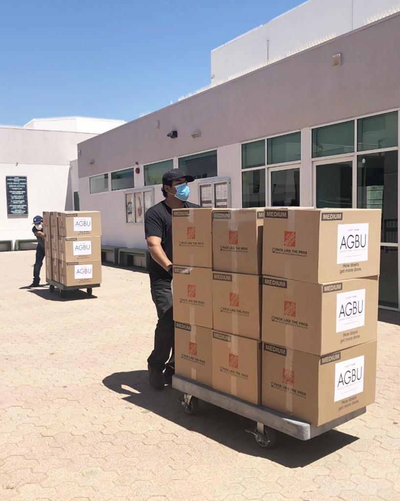 AGBU LA Cares food distribution