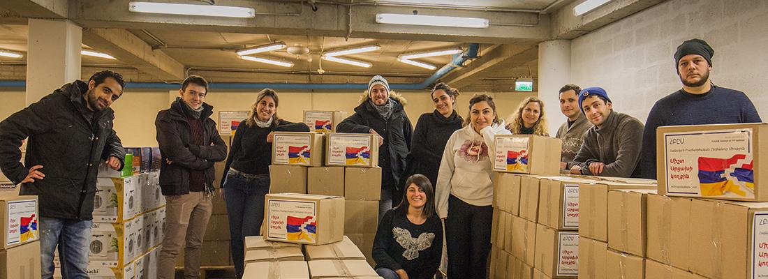 Les bénévoles de l'UGAB Valence viennent en aide aux populations réfugiées d'Artsakh